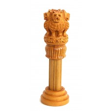 Ashoka Pillar Indian Emblem Carved