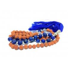 Lapis Lazuli 108 Bead with Rudraksh